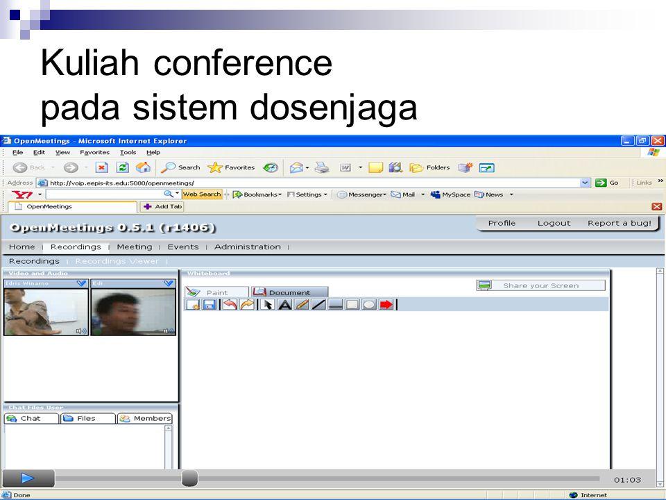 Kuliah conference pada sistem dosenjaga