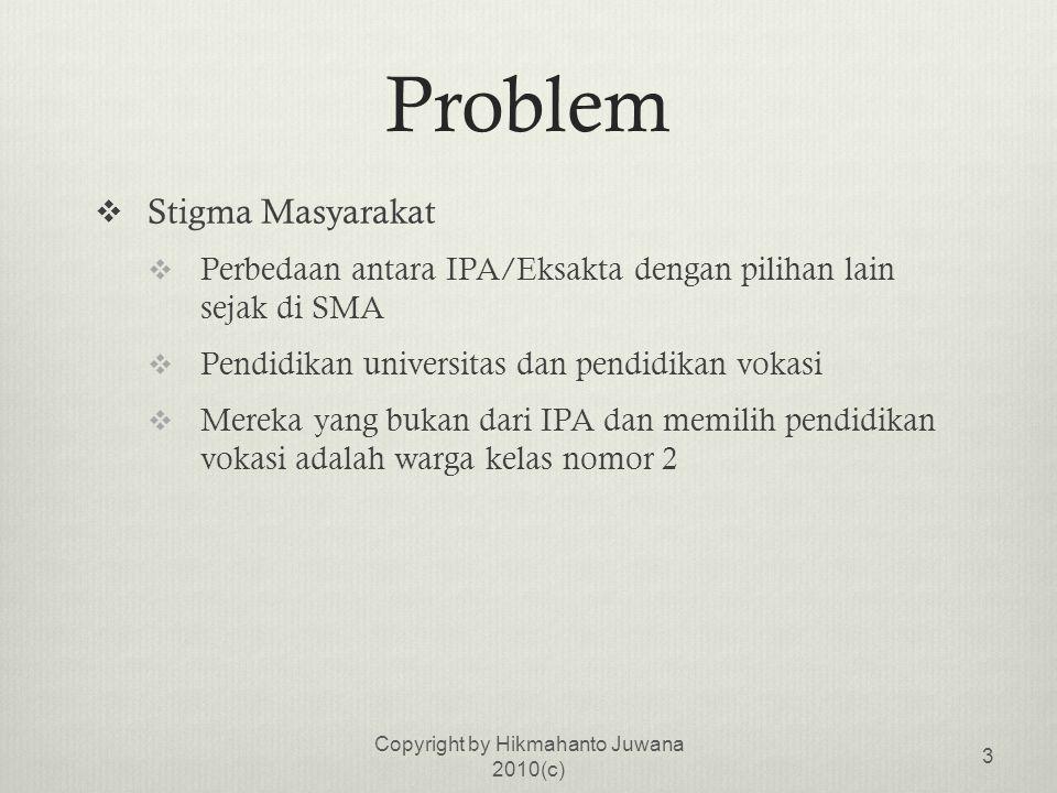  Kemampuan Mengidentifikasi Masalah  Masih banyak masalah yang harus diidentifikasi dalam rangka pembenahan sistem pendidikan di Indonesia  kondisi Indonesia yang berbeda  koordinasi antar instansi yang kerap sangat lemah Copyright by Hikmahanto Juwana 2010(c) 14
