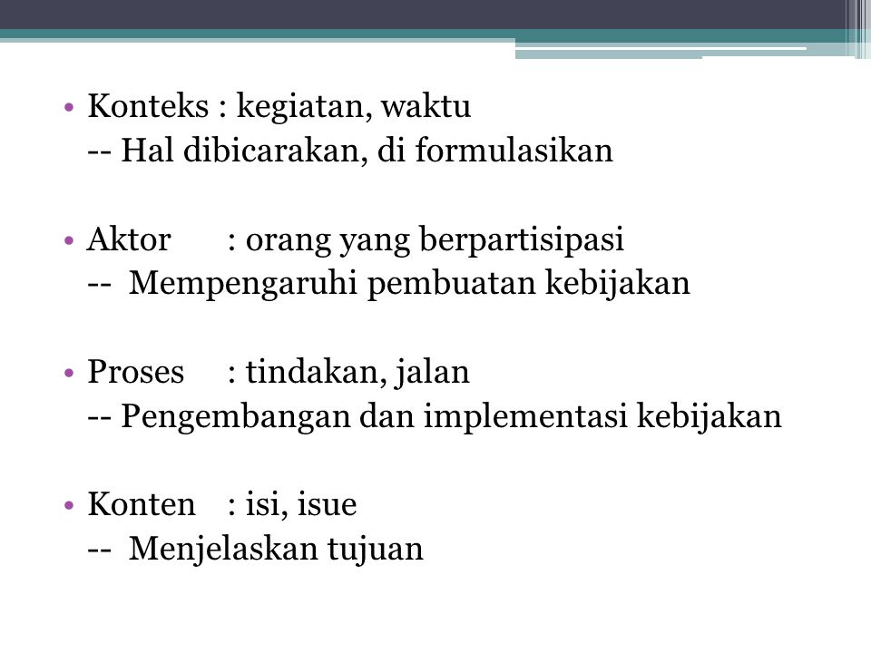 Pelaksanaan di Indonesia.