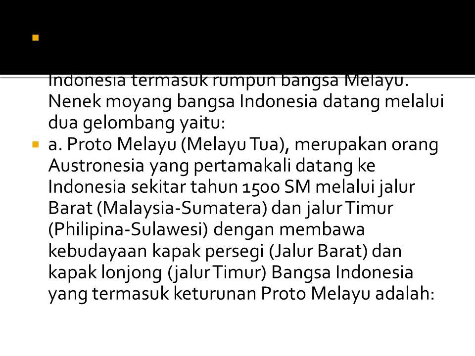  3. Moh. Yamin, mengatakan bahwa bangsa Indonesia berasal dari Indonesia. Dia melihat bahwa banyak penemuan artefak maupun fosil tertua di Indonesia