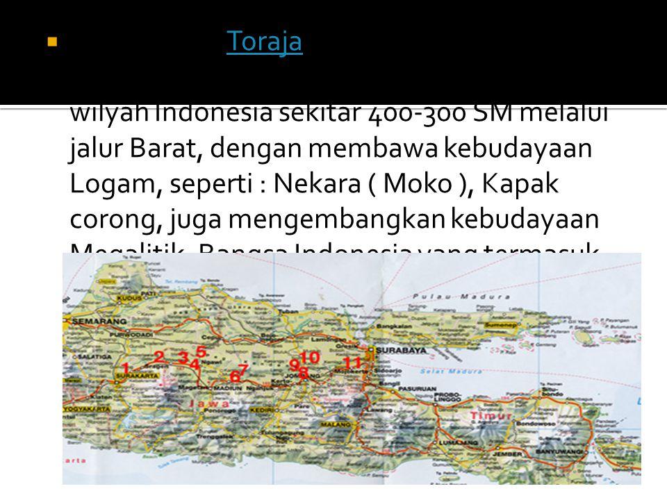  7. Pendapat beberapa ahli, mengatakan bahwa masyarakat yang menempati wilayah-wilayah Indonesia termasuk rumpun bangsa Melayu. Nenek moyang bangsa I