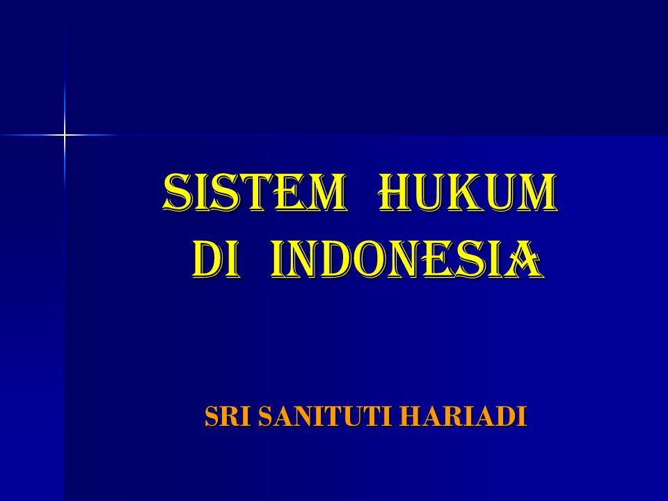SISTEM HUKUM DI INDONESIA SRI SANITUTI HARIADI
