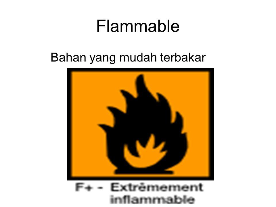 Bahan yang mudah terbakar Flammable