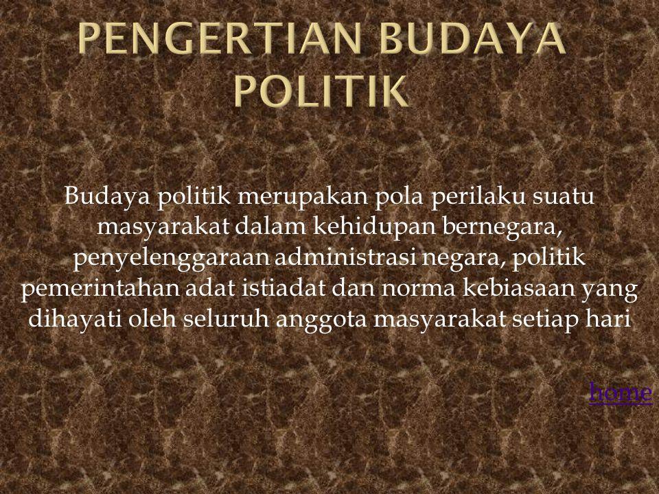 Budaya poliitik di indoonesia Budaya politik Budaya politik yang berkembang dalam masyarakat indonesia Pentingnya sosialisasi Peran serta budaya polit
