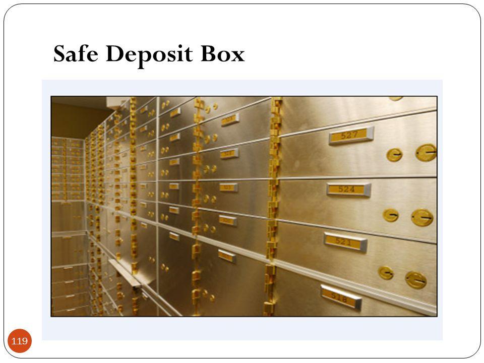 Safe Deposit Box 119