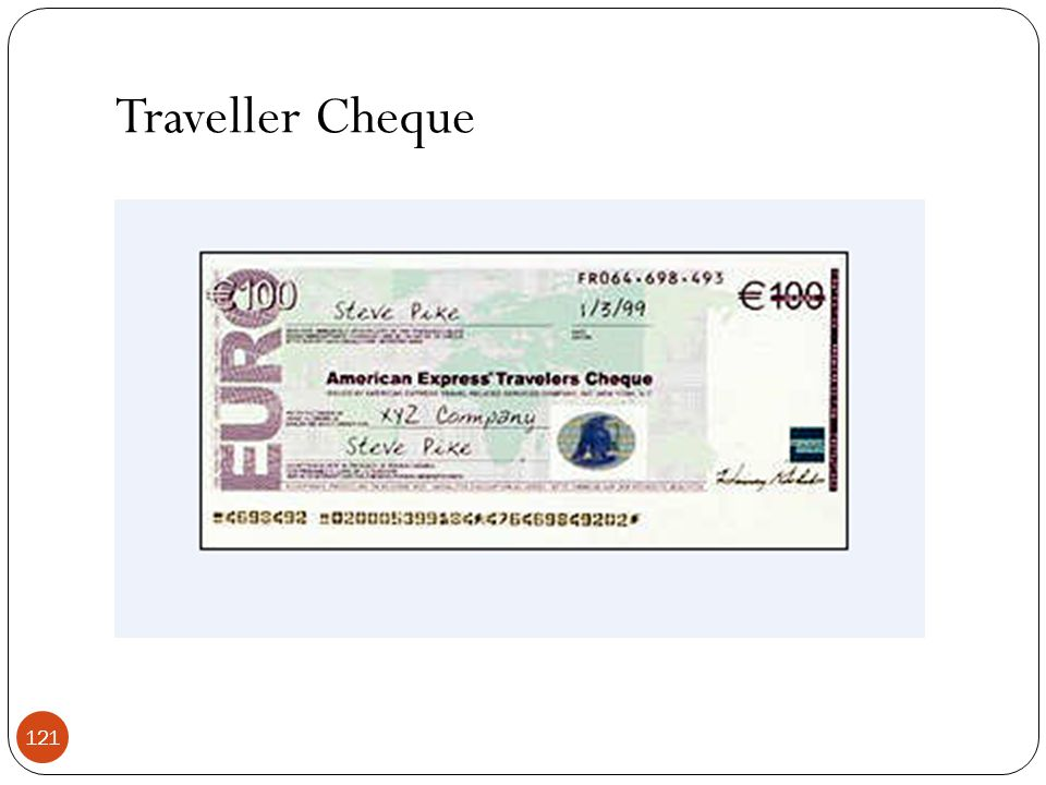 Traveller Cheque 121