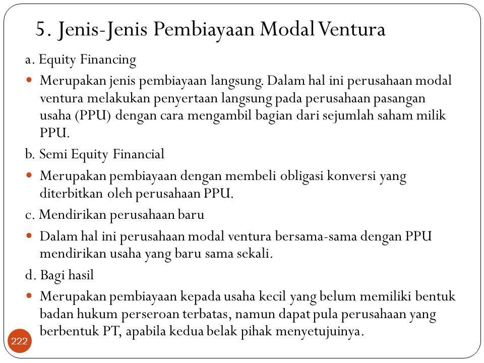 a.Equity Financing  Merupakan jenis pembiayaan langsung.