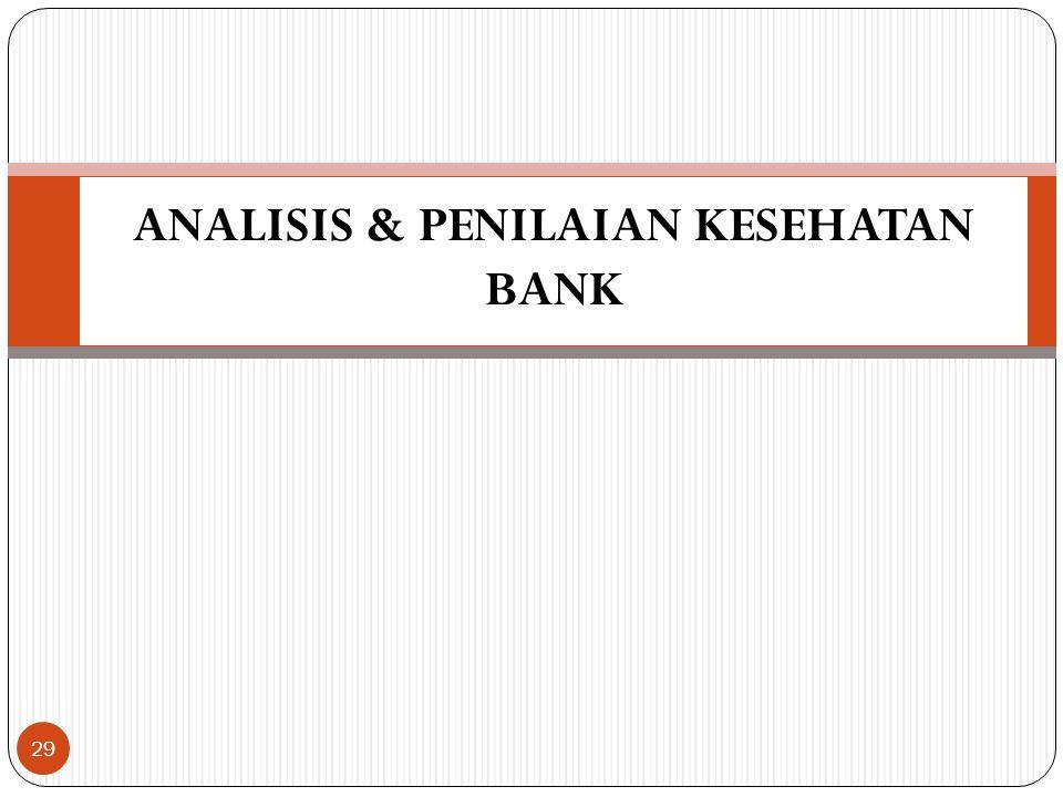 ANALISIS & PENILAIAN KESEHATAN BANK 29