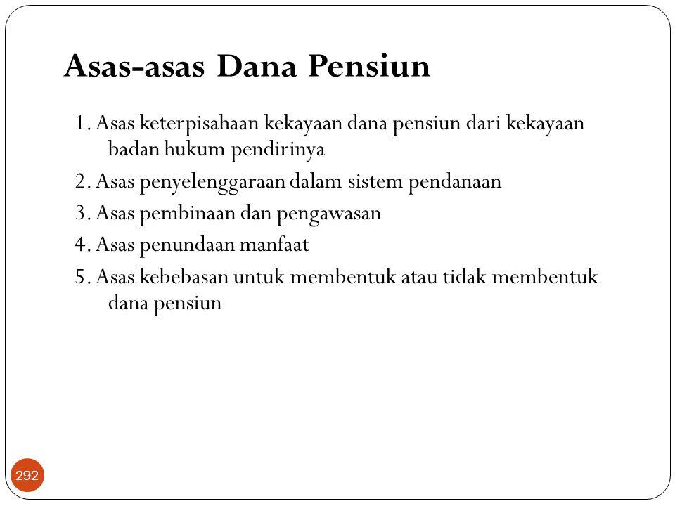 Asas-asas Dana Pensiun 1.