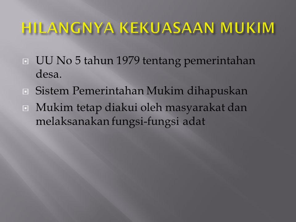  UU No 5 tahun 1979 tentang pemerintahan desa.