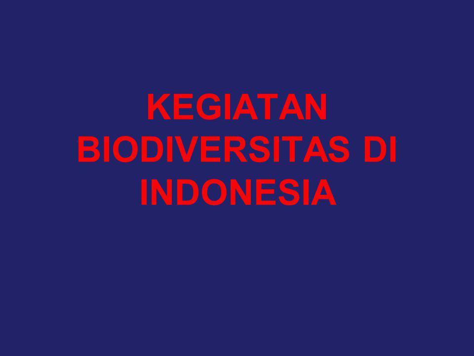 KEGIATAN BIODIVERSITAS DI INDONESIA