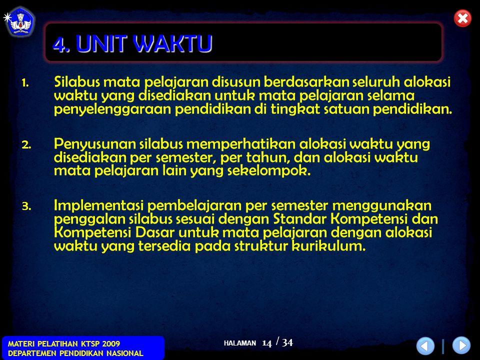 HALAMAN / 34 MATERI PELATIHAN KTSP 2009 DEPARTEMEN PENDIDIKAN NASIONAL 14 1.