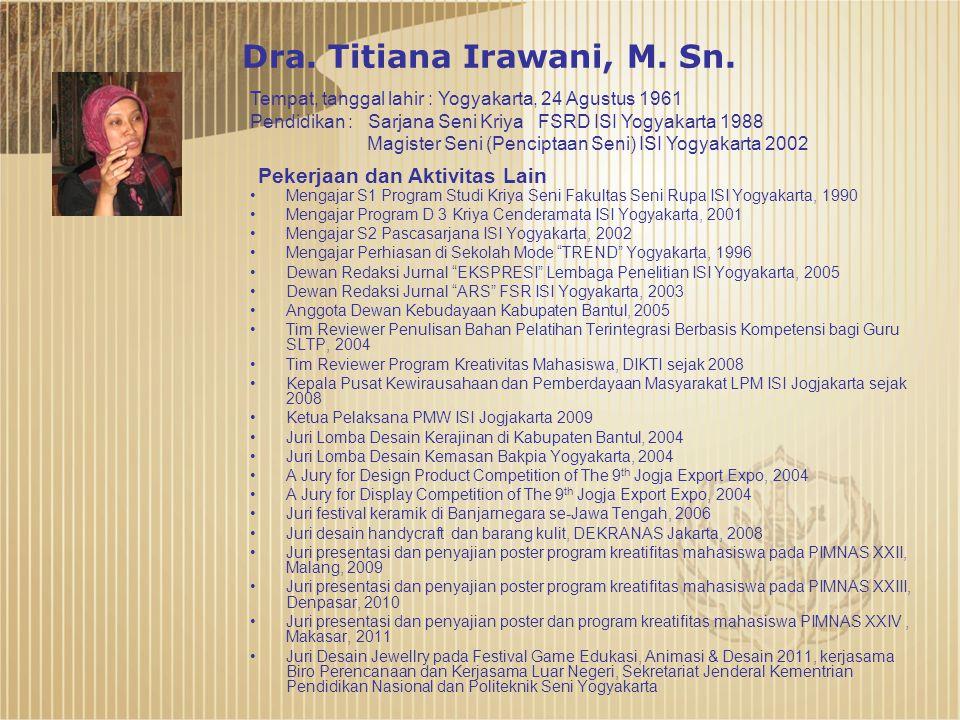 Dra.Titiana Irawani, M. Sn.