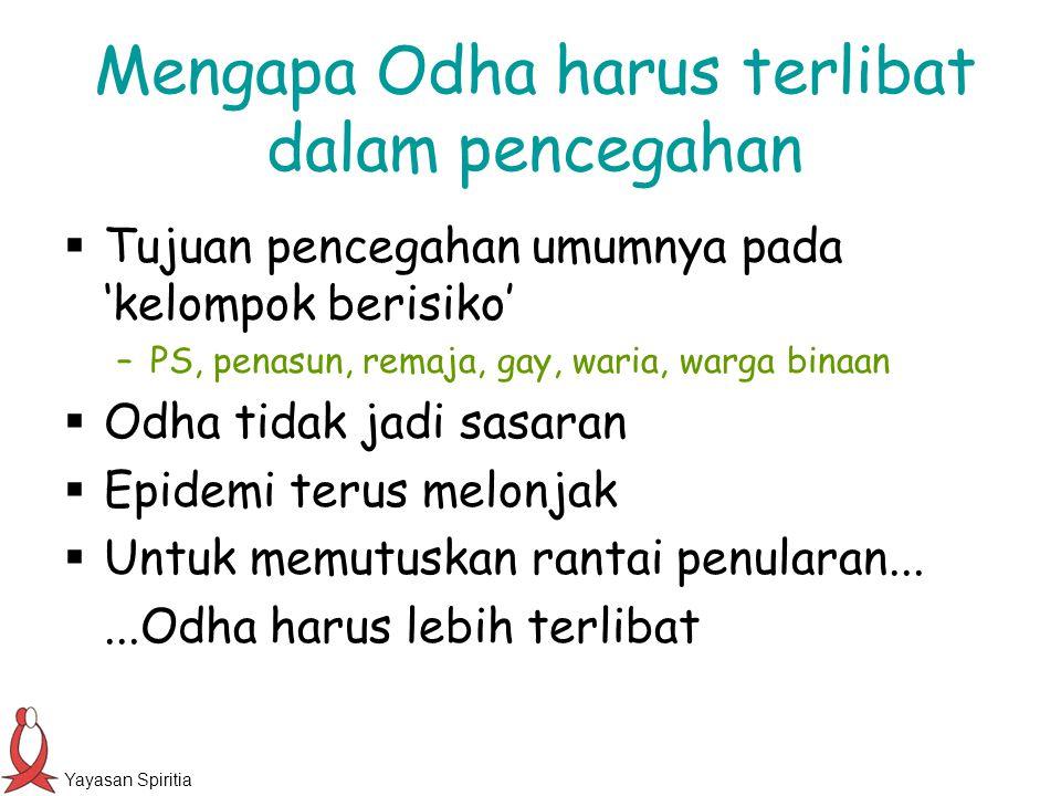 Yayasan Spiritia Perilaku berisiko bukan kebiasaan untuk Odha.