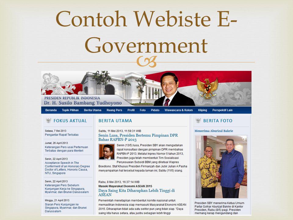  Contoh Webiste E- Government