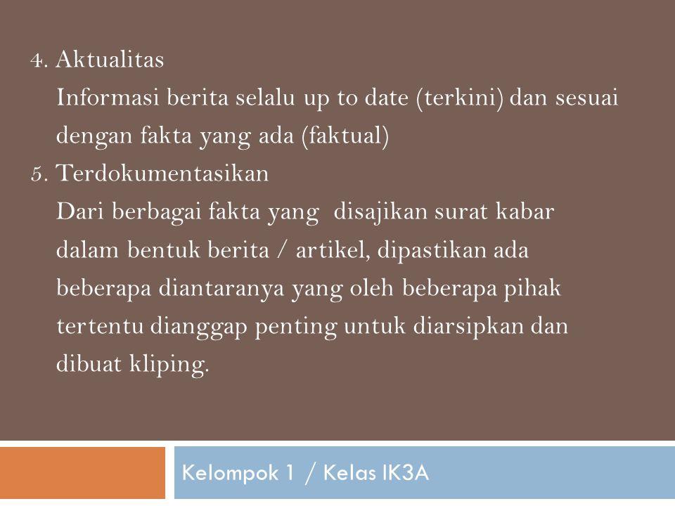 Kelompok 1 / Kelas IK3A 4.