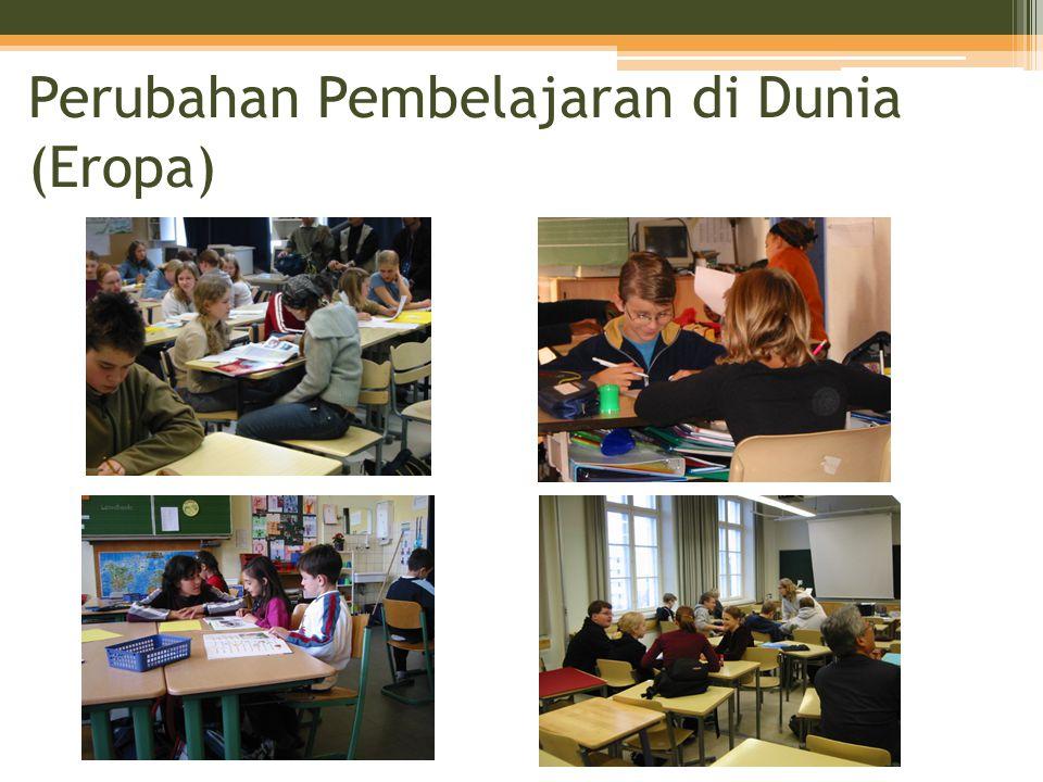 Tehnik Dasar Pembelajaran (5) •Menyelenggarakan pembelajaran dengan sebuah lompatan Kebanyakan pelajaran di Jepang menjadi pelajaran untuk 'menjelaskan fakta-fakta yang sudah jelas secara agak membosankan' = Pembelajaran tanpa ada 'lompatan' •'Pembelajaran dengan lompatan' diraih dengan pembelajaran kolaboratif •'Pembelajaran dengan lompatan' menjamin 'fondasi dasar' (memahami dengan menyiapkan tumpuan) •'Pembelajaran dengan lompatan' meningkatkan 'siswa menjadi bagus saat belajar' •'Pembelajaran dengan lompatan' meningkatkan pertumbuhan guru sebagai seorang profesional