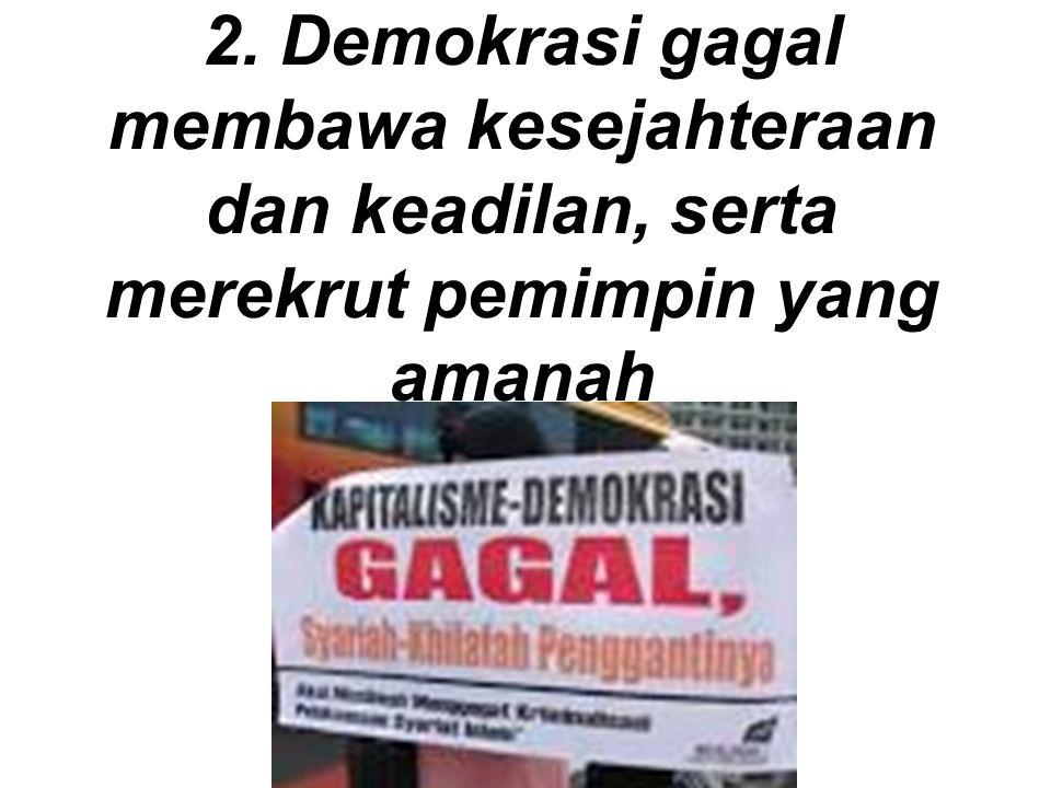 Demokrasi dibajak oleh politik uang dan korupsi