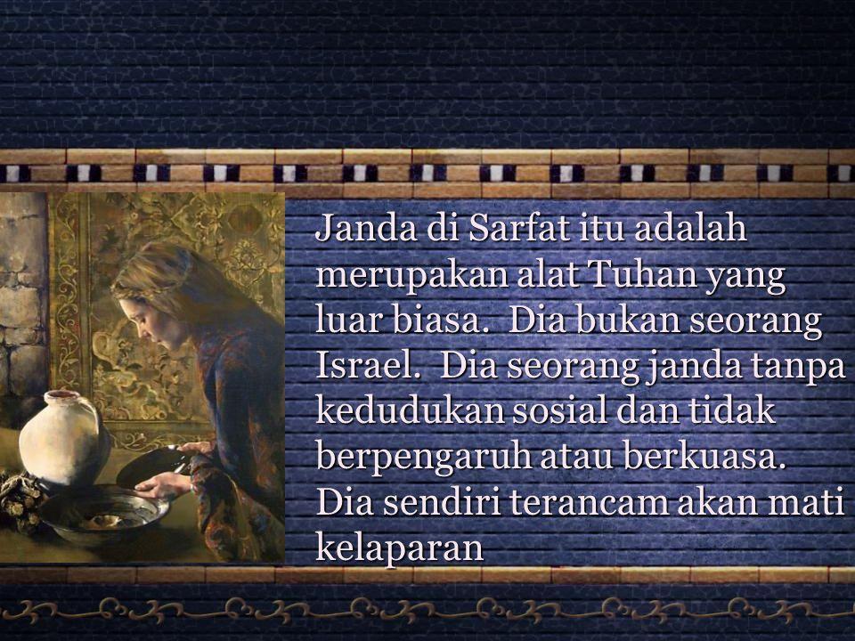 Apakah Implikasi dari ucapan Janda Sarfat dalam 1 Raja 17:12 setelah kami memakannya, maka kami akan mati. 1.