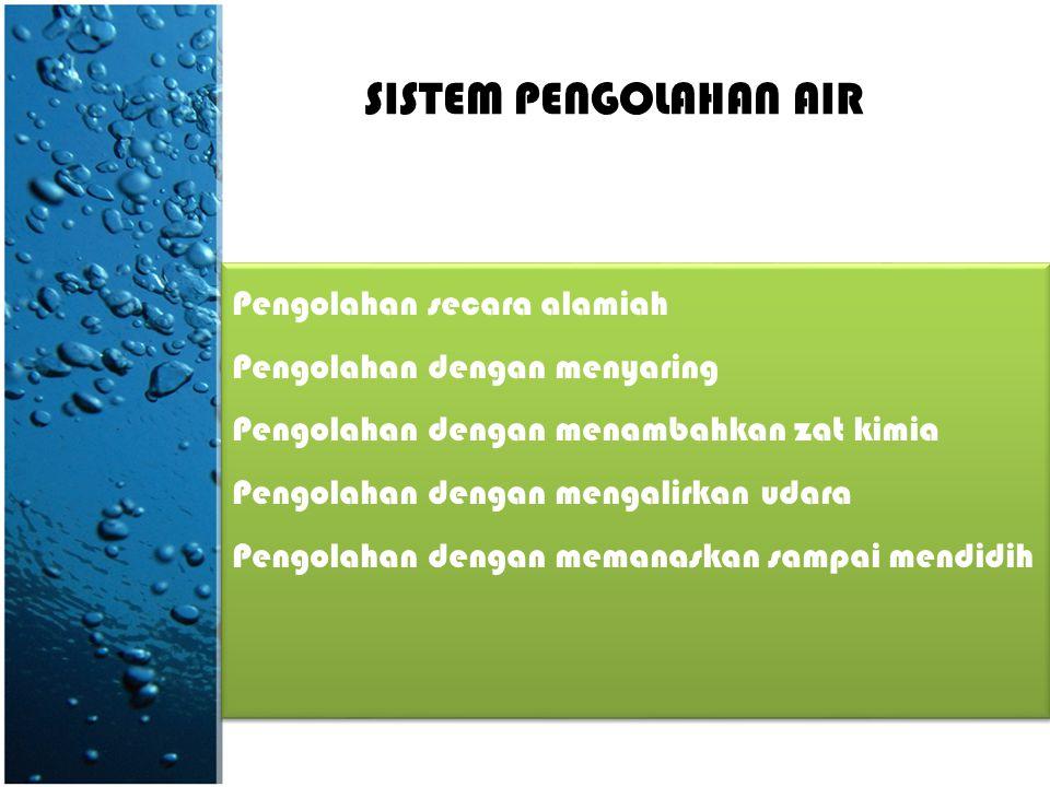 SUMBER AIR • Air hujan • Air sungai dan danau • Mata air • Air sumur dangkal • Air sumur dalam