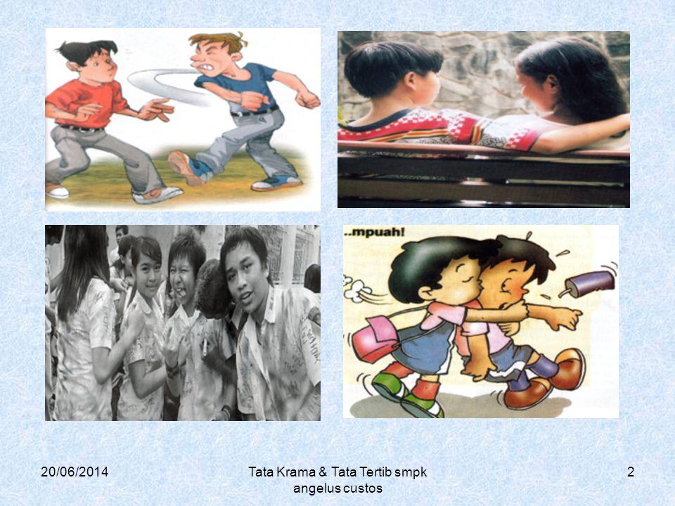 20/06/2014Tata Krama & Tata Tertib smpk angelus custos 2