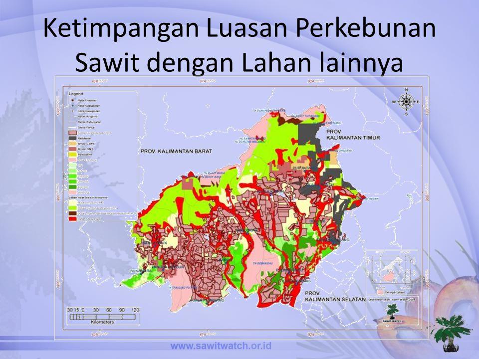 Ketimpangan Luasan Perkebunan Sawit dengan Lahan lainnya