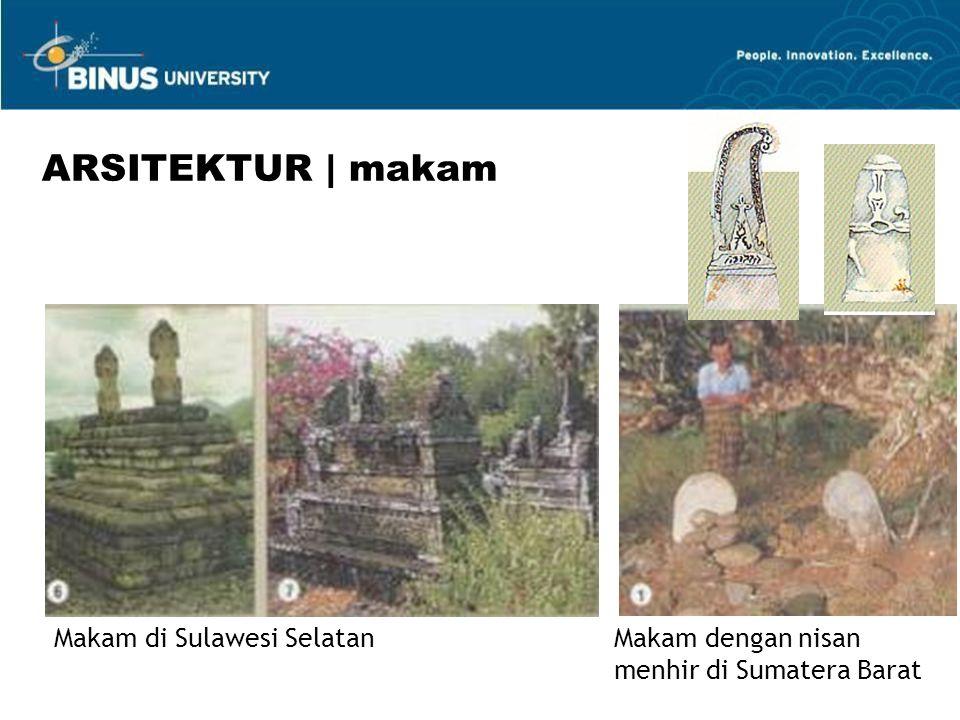 Makam di Sulawesi SelatanMakam dengan nisan menhir di Sumatera Barat ARSITEKTUR | makam