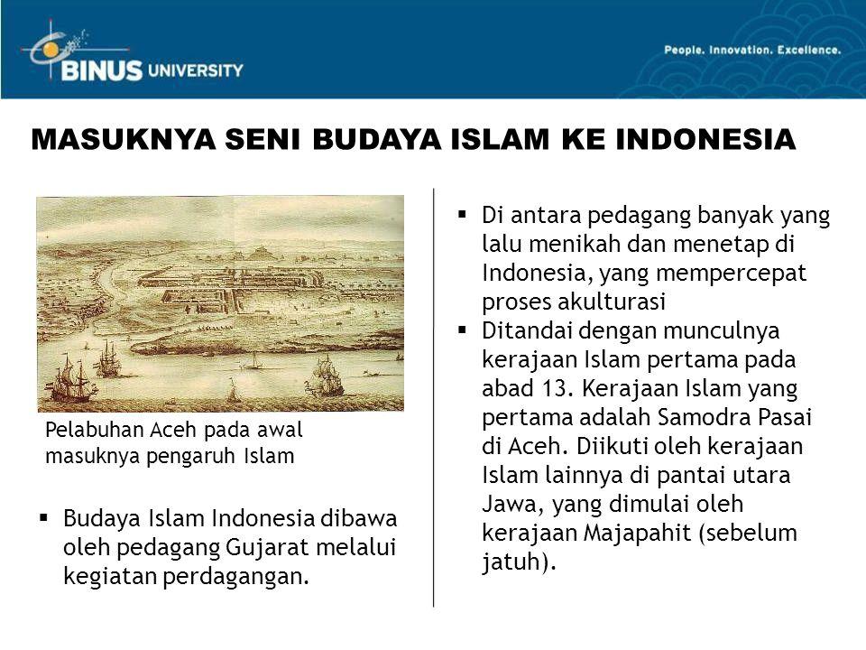  Di antara pedagang banyak yang lalu menikah dan menetap di Indonesia, yang mempercepat proses akulturasi  Ditandai dengan munculnya kerajaan Islam pertama pada abad 13.