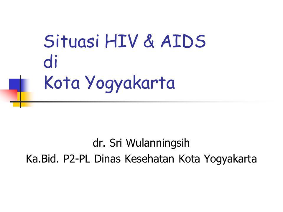 Situasi HIV & AIDS di Kota Yogyakarta dr. Sri Wulanningsih Ka.Bid. P2-PL Dinas Kesehatan Kota Yogyakarta