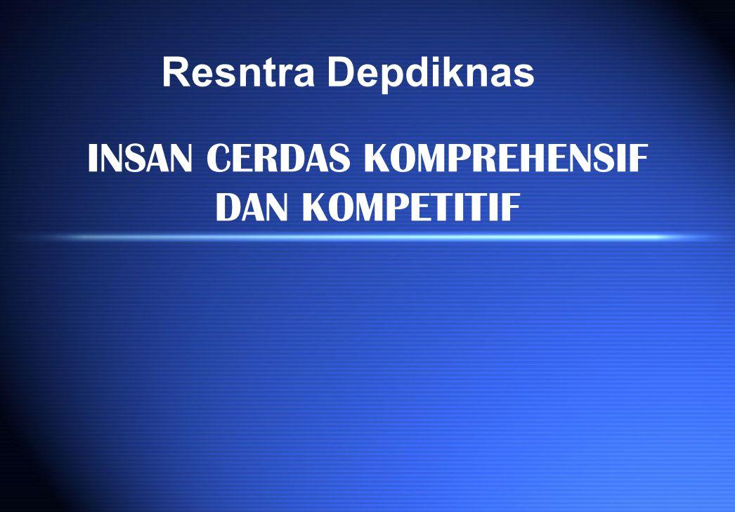INSAN CERDAS KOMPREHENSIF DAN KOMPETITIF Resntra Depdiknas
