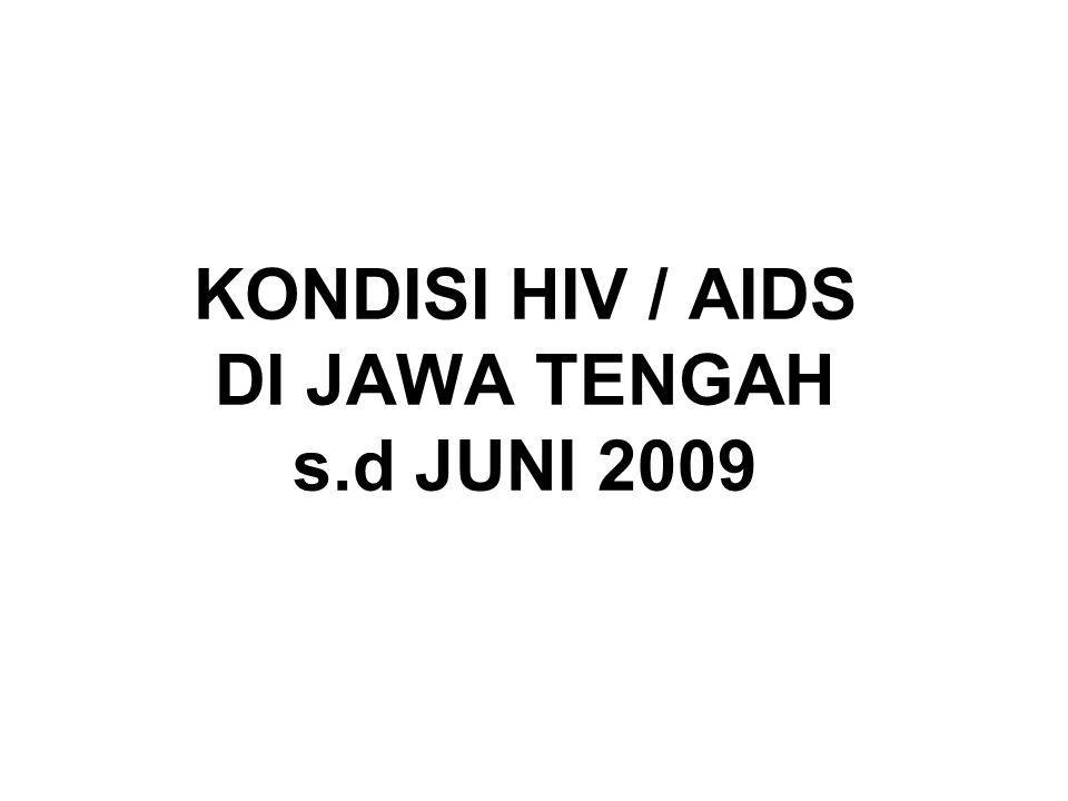 KONDISI HIV / AIDS DI JAWA TENGAH s.d JUNI 2009