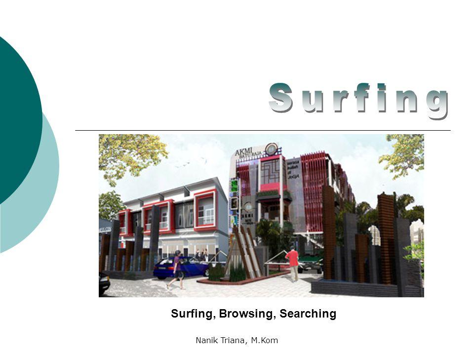 Surfing, Browsing, Searching Nanik Triana, M.Kom