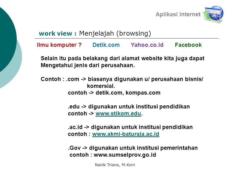 Menjelajah (browsing) Aplikasi Internet Ilmu komputer .