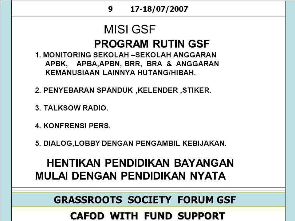 MISI GSF PROGRAM RUTIN GSF 1.