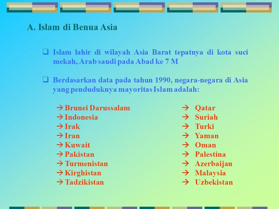  P Pakistan (Republik Islam Pakistan)  Pakistan terletak di Asia Selatan, berbatasan dengan Iran di Barat, Afganistan di Barat Laut, India di Tenggara, Jammu dan Kashmir di Timur Laut dan Laut Barat di Selatan  Umat islam di Pakistan berjumlah 97 % dari total penduduk  Pakistan merupakan salah satu negara yang mempunyai peranan penting dalam sejarah dan perkembangan islam  Di negeri pakistan kajian keilmuan terjaga dengan baik terutama filsafat