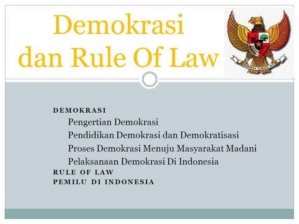 10 Pilar Demokrasi Konstitusional Indonesia: 1.Demokrasi berdasarkan KTTYME.