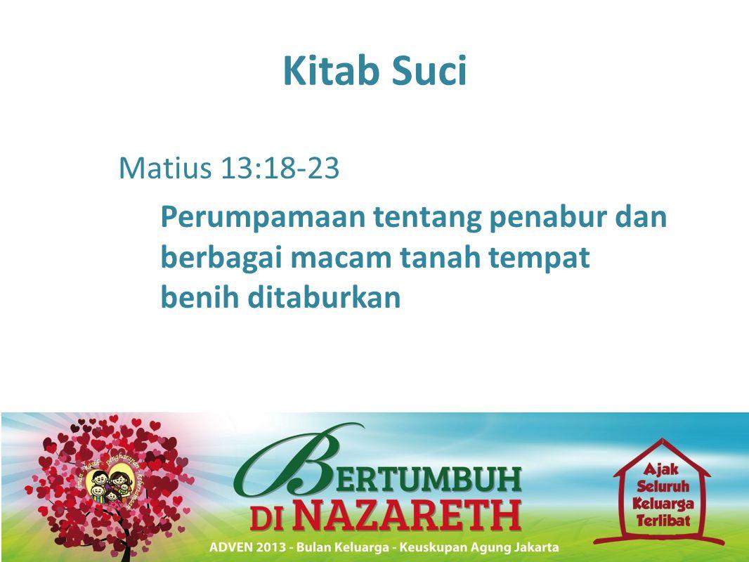 Kitab Suci Matius 13:18-23 Perumpamaan tentang penabur dan berbagai macam tanah tempat benih ditaburkan