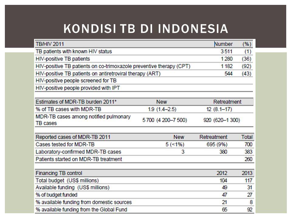 KONDISI TB DI INDONESIA
