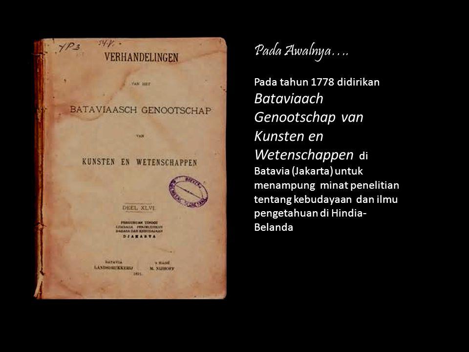 Java Instituut di Surakarta tahun 1919, dipimpin oleh Dr.