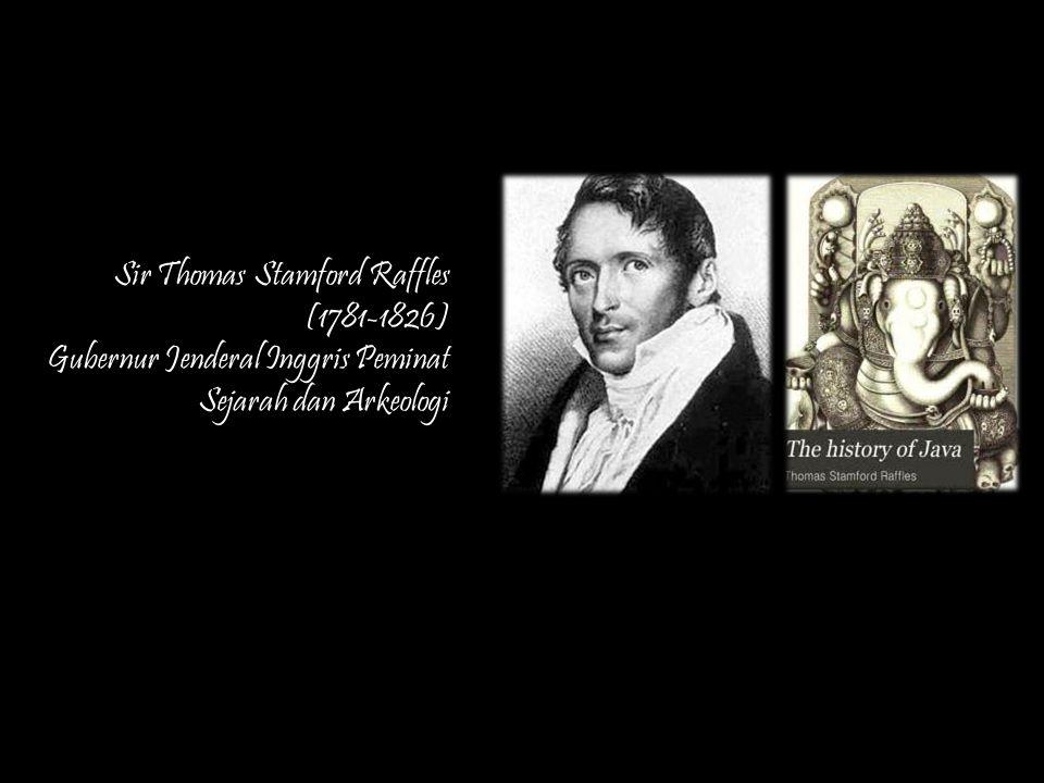 Ilustrasi Candi Borobudur dan Brambanan dalam buku A History of Java karangan Sir Thomas Stamford Raffles