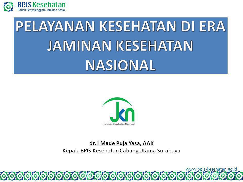 www.bpjs-kesehatan.go.id dr. I Made Puja Yasa, AAK Kepala BPJS Kesehatan Cabang Utama Surabaya www.bpjs-kesehatan.go.id