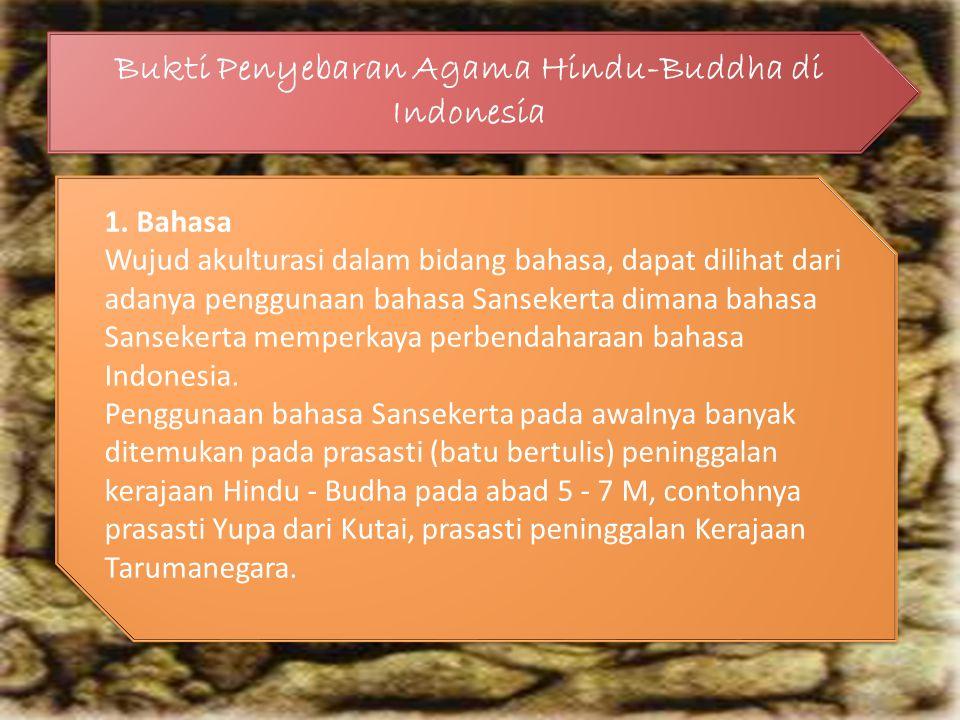 Bukti Penyebaran Agama Hindu-Buddha di Indonesia 1.