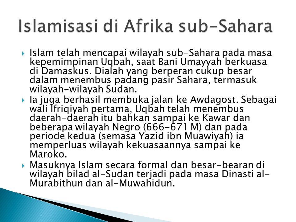  Sebelum Islam menakhlukkan Afrika Utara, ± 500 tahun wilayah Afrika Utara dijajah Bizantium.