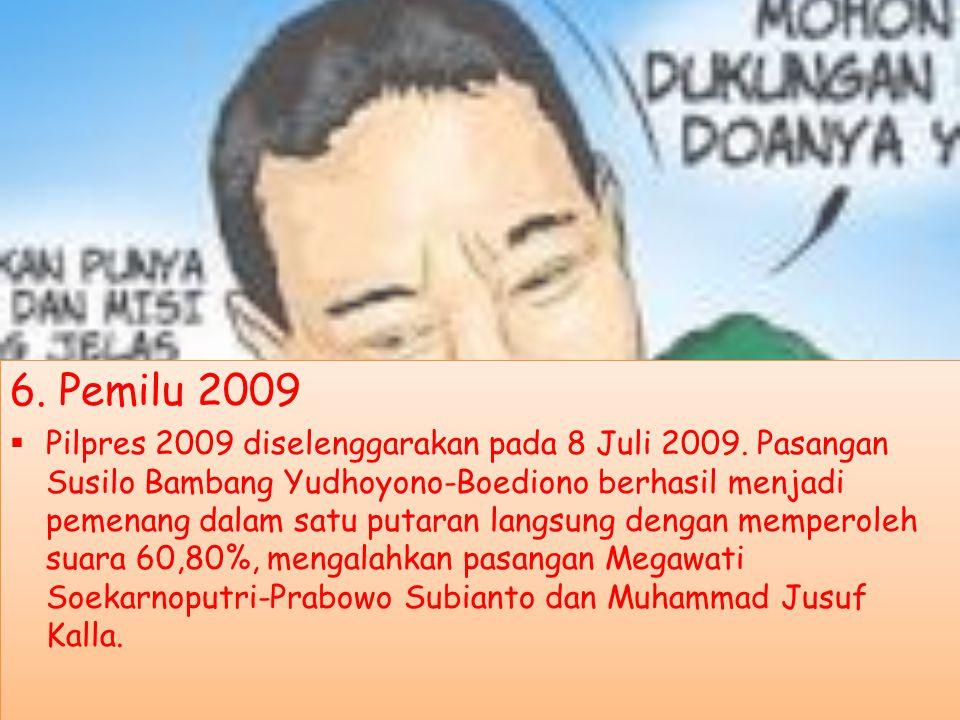 4. Pemilu 1999  Pemilu berikutnya, sekaligus Pemilu pertama setelah runtuhnya orde baru, yaitu Pemilu 1999 dilangsungkan pada tahun 1999 ( tepatnya p