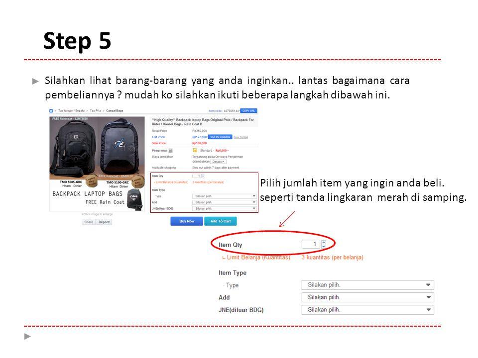 Silahkan klik tanda pilihan di kotak dan tentukan pilihan anda.