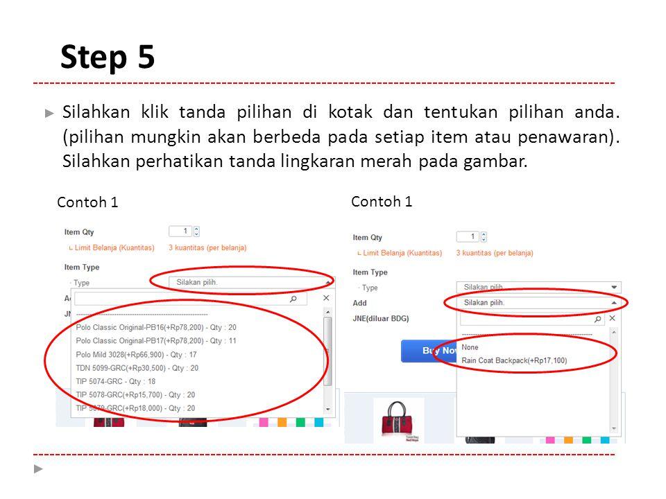 Step 6 Contoh 2
