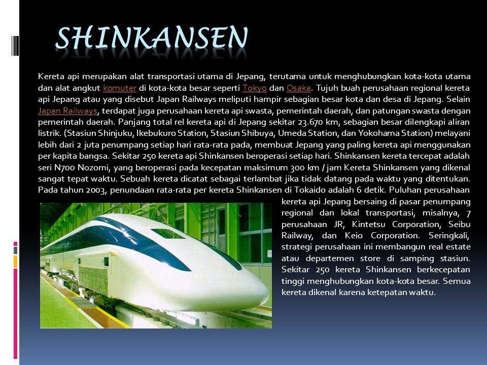 Kereta api merupakan alat transportasi utama di Jepang, terutama untuk menghubungkan kota-kota utama dan alat angkut komuter di kota-kota besar sepert