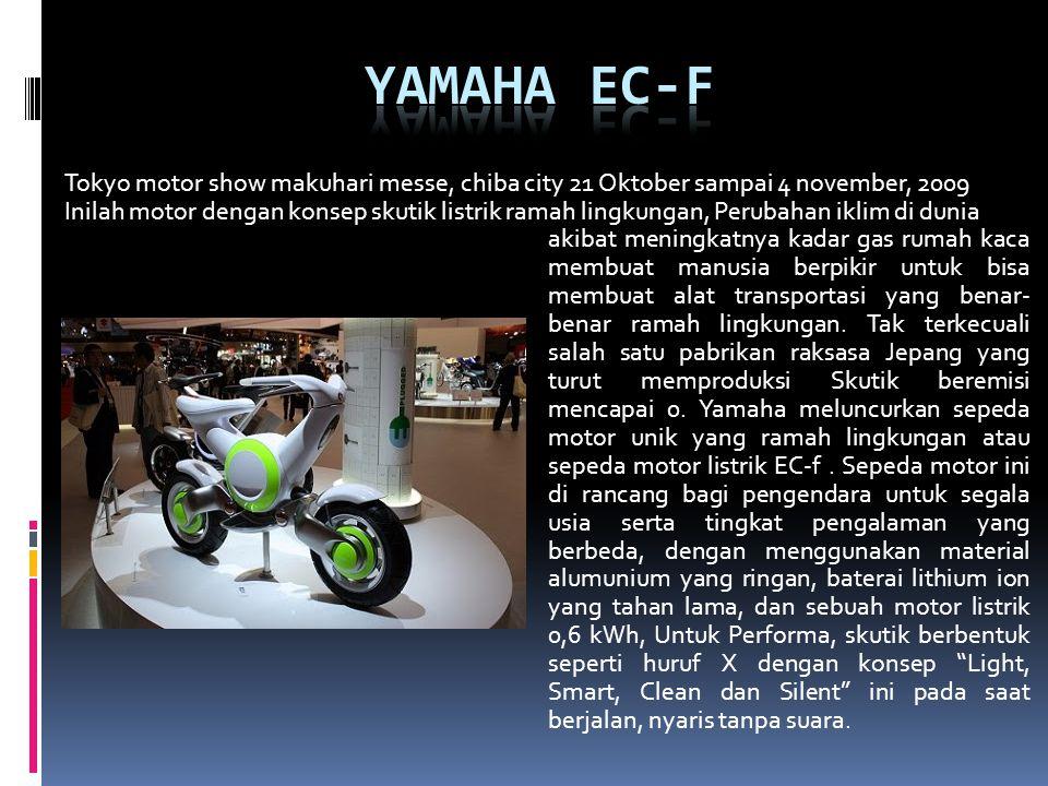 Tokyo motor show makuhari messe, chiba city 21 Oktober sampai 4 november, 2009 Inilah motor dengan konsep skutik listrik ramah lingkungan, Perubahan i