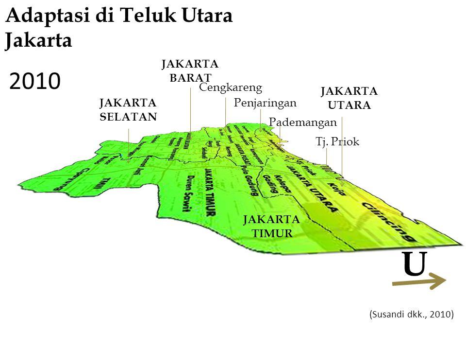 JAKARTA SELATAN Cengkareng Penjaringan Pademangan Tj. Priok JAKARTA TIMUR JAKARTA UTARA JAKARTA BARAT 2010 Adaptasi di Teluk Utara Jakarta (Susandi dk