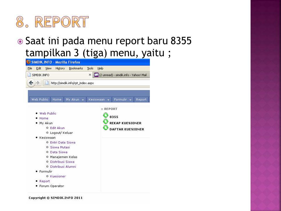  Digunakan untuk memproses atau menambah, memperbaiki/edit data siswa saat ini termasuk perbaikan nama dan siswa yang mutasi keluar, silahkan proses menggunakan menu ini dengan cara pilih kelas nya lalu buka menu Edit pada data siswa tersebut,